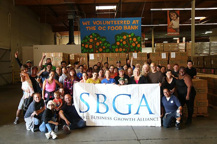 Team SBGA at OC Food Bank