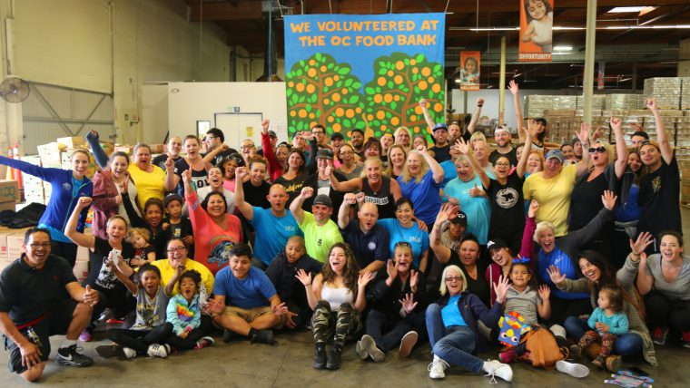 Integrated employees at last year's OC Food Bank event.